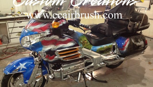 Custom Creations Viet Nam Tribute Motorcycle